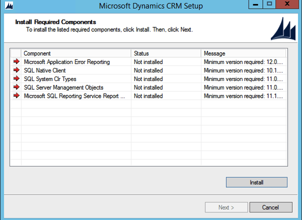 CRM 2015 Install Process