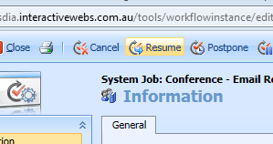 CRM Resume Workflow