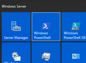 Windows 2016 Server Power Shell