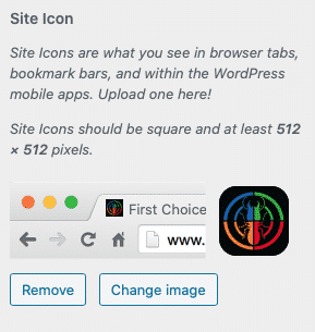 Wordpres Change Favicon image with png